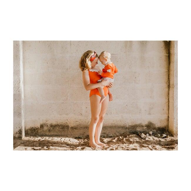 Marley Swimsuit, Mandarin Red