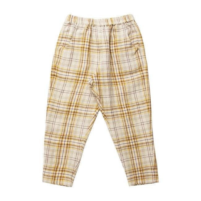 Jumping Jack Trousers, Buttermilk Plaid Linen