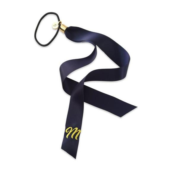 Monogram Pony Ribbon, Navy