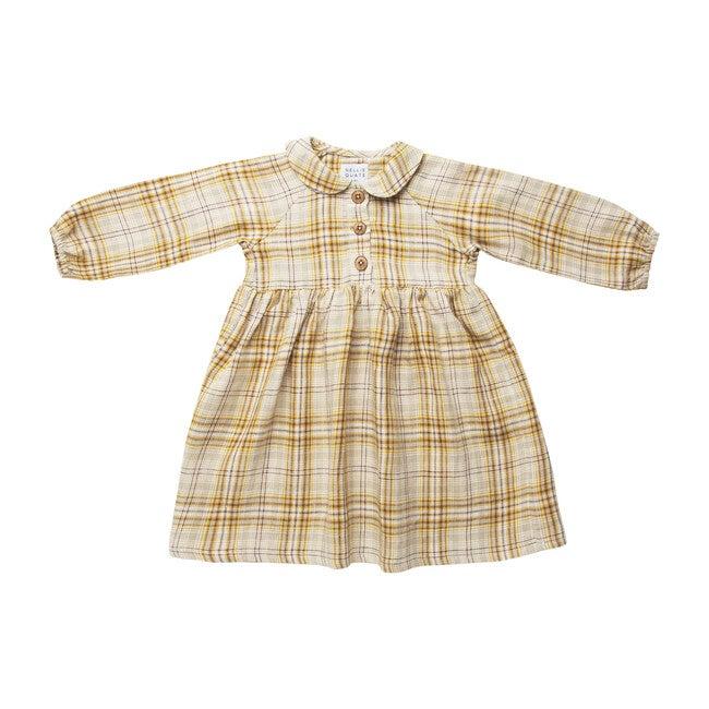 Duck, Duck, Goose Dress, Buttermilk Plaid Linen