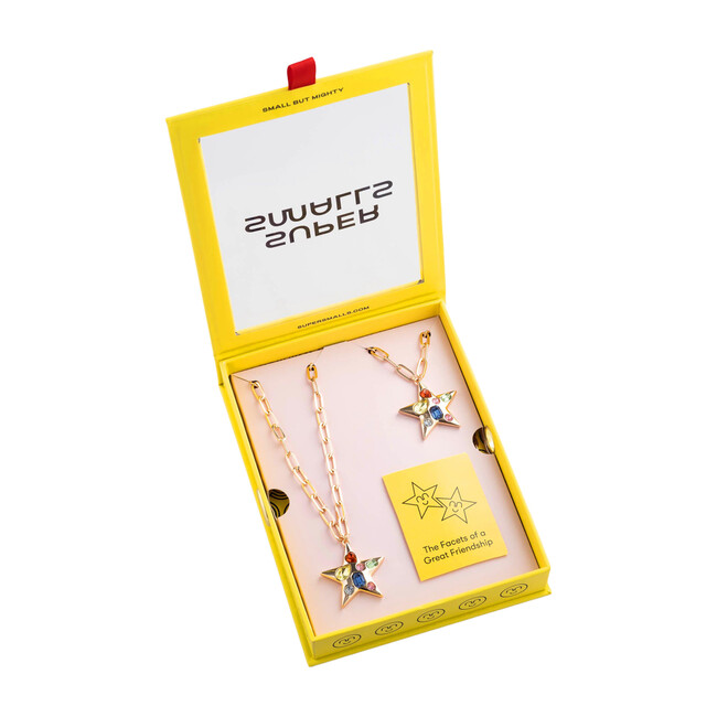 BFF Twin Stars Necklace Set