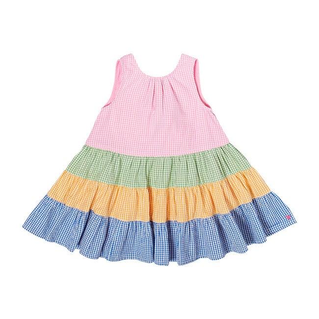 Pearl Dress, Mixed Mini Gingham