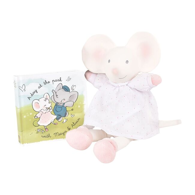 Meiya the Mouse Natural Rubber Head Deluxe Toy with Book