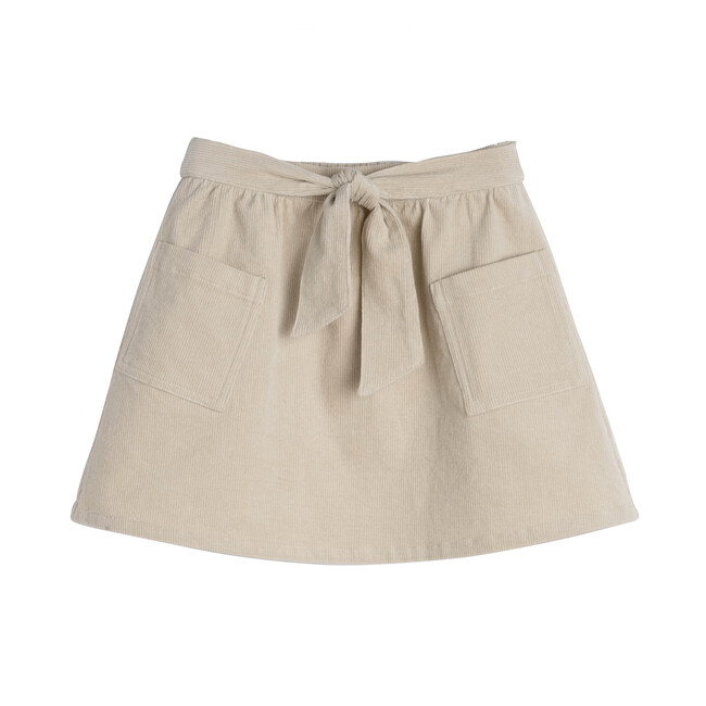 Harper Cord Bow Skirt, Natural Cord