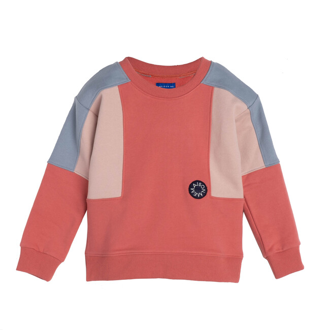 Tyler Colorblock Sweatshirt, Pink Multi