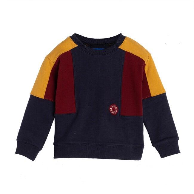 Tyler Colorblock Sweatshirt, Navy Multi