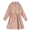 Emma Long Sleeve Collared Dress, Pink Graphic Flower - Dresses - 1 - thumbnail