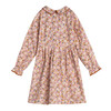 Emma Long Sleeve Collared Dress, Pink Graphic Flower - Dresses - 3