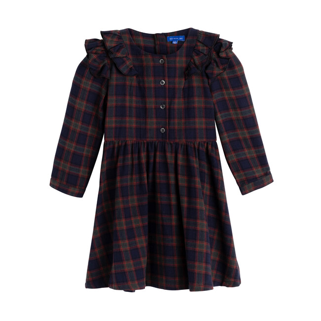 Lexi Dress, Navy Tartan