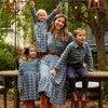Alexandra Smocked Dress, Blue Check - Dresses - 6