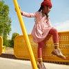 Marley Ribbed Long Sleeve Dress, Darker Dusty Rose Stripe - Dresses - 2