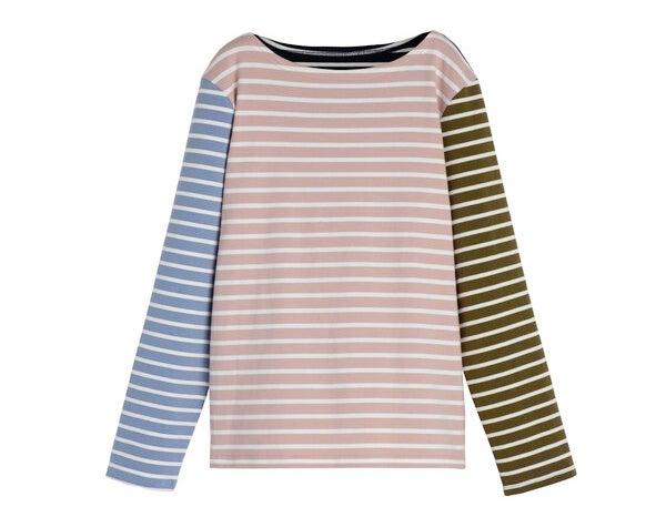 Soraya Women's Striped Long Sleeve, Pink Multi
