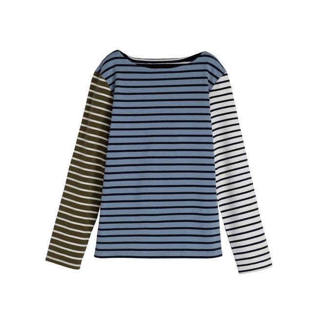 Soraya Women's Striped Long Sleeve, Blue Multi
