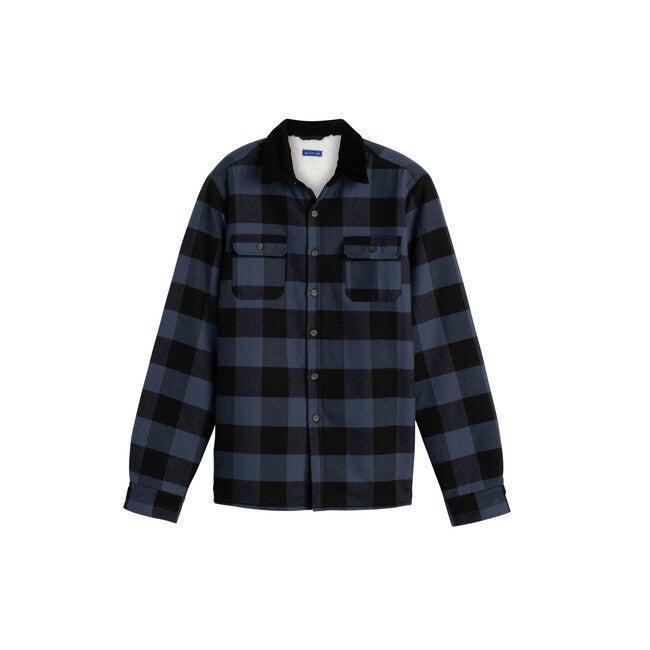 Terrence Men's Sherpa Shirt, Buffalo Check