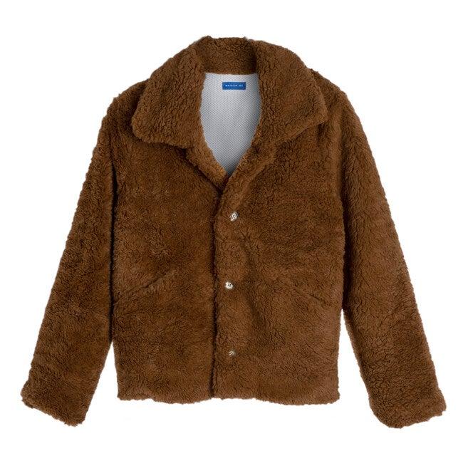Penelope Women's Cropped Teddy Coat, Coco