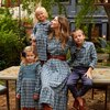 Elizabeth Women's Long Sleeve Collared Dress, Blue Check - Dresses - 6