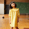 Cleo Dress, Sunshine Yellow Flower on Vine - Dresses - 2