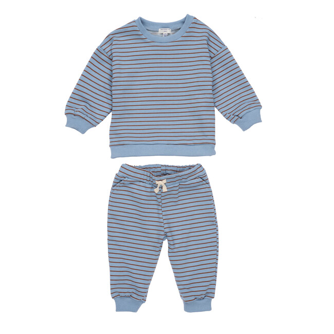 Jones Sweat Set, Blue Stripe