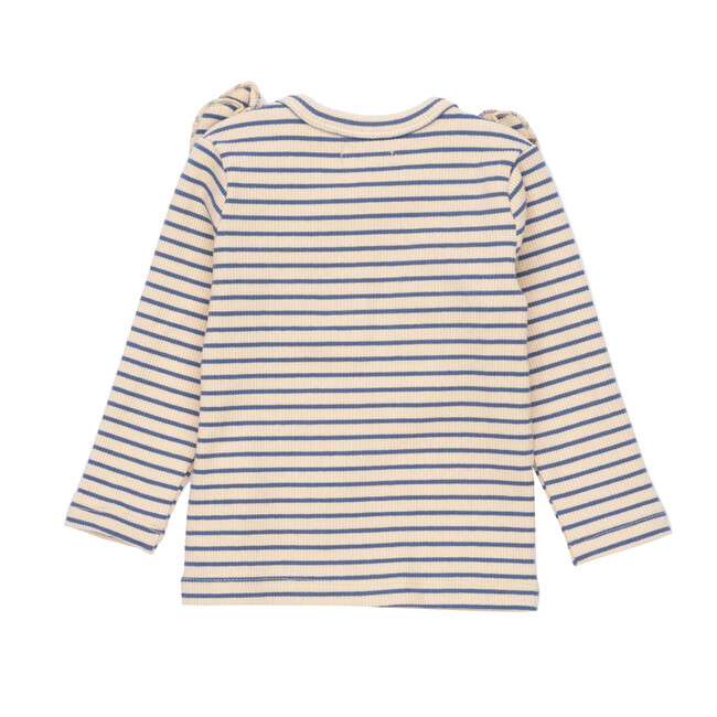 Baby Priya Cardigan, Blue & Natural Stripe