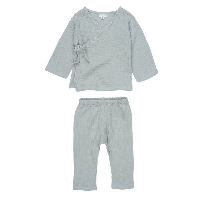 Jaden Kimono Set, Sage - Mixed Apparel Set - 1 - zoom