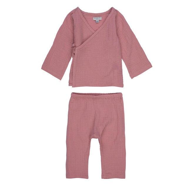 Jaden Kimono Set, Dusty Pink