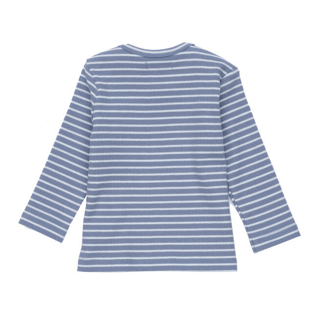 Andie Long Sleeve Tee, Blue & Light Blue Stripe