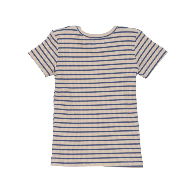 Kai Short Sleeve Tee, Blue & Natural Stripe