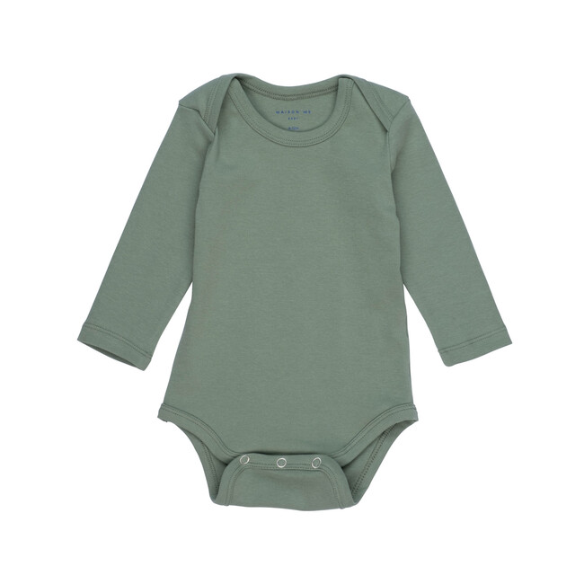 Reagan Long Sleeve Bodysuit, Sage