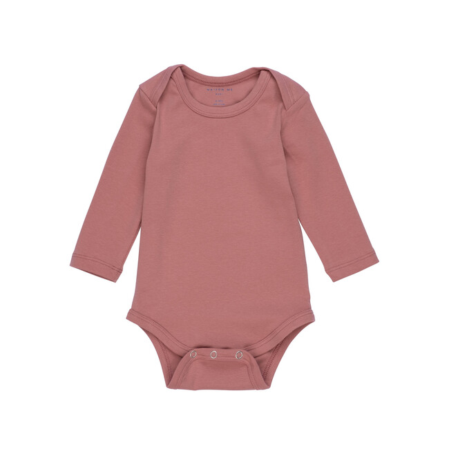 Reagan Long Sleeve Bodysuit, Rose