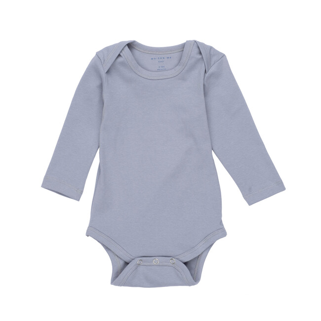 Reagan Long Sleeve Bodysuit, Blue