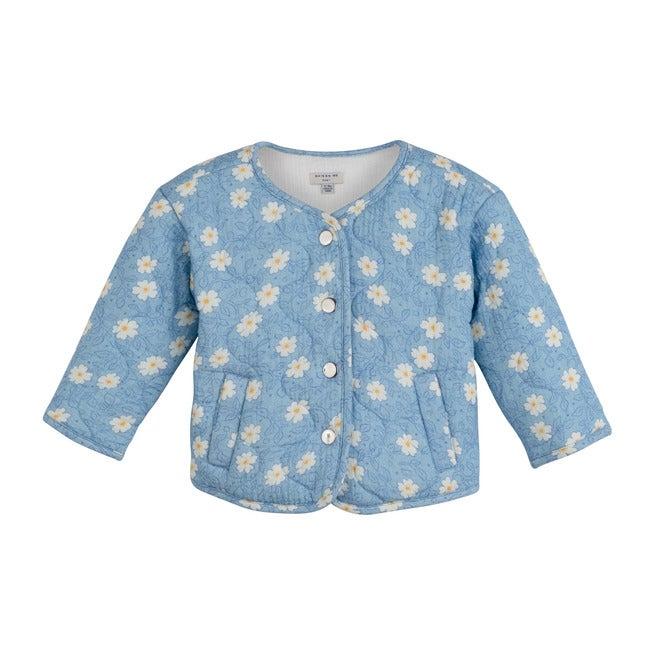 Baby Esme Quilted Jacket, Cornflower Blue on Vine