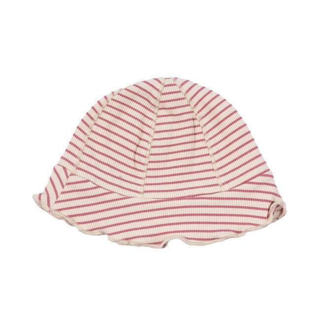 Novi Hat, Pink & Natural Stripe