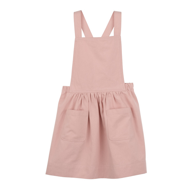 Millie Pinafore Dress, Pale Pink