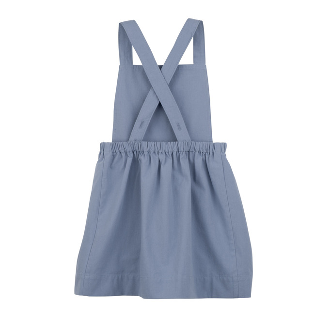 Millie Pinafore Dress, Dusty Blue