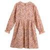 Emma Long Sleeve Collared Dress, Pink Flower Garden - Dresses - 3