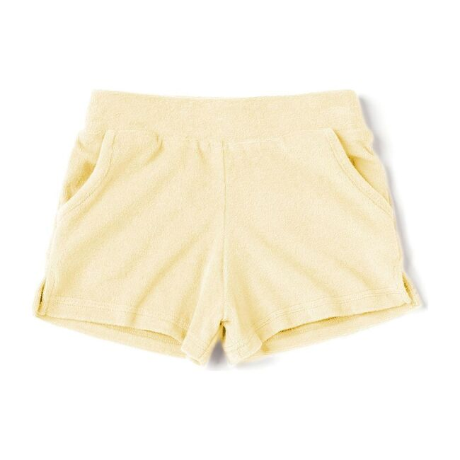 Kids Running Shorts in Terry, Yellow