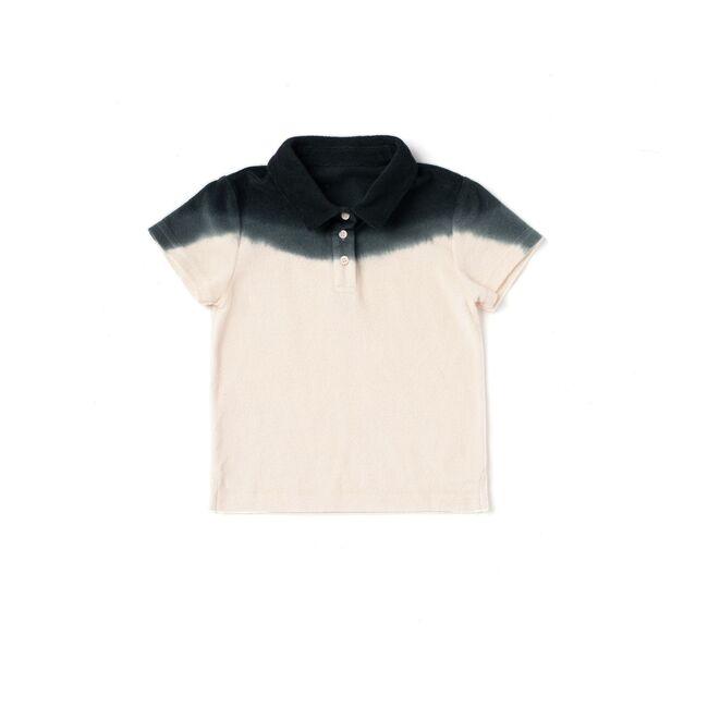 Terry Polo Shirt, Black Ombre