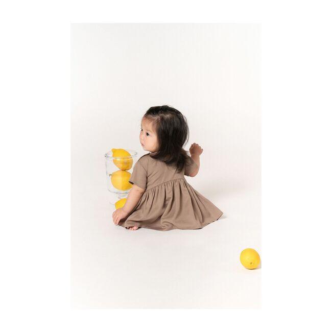 Baby Hi-Low Drop Waist Dress, Mocha