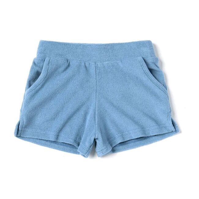 Kids Running Shorts in Terry, Blue