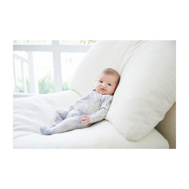 Baby Marble Tie Dye Seamless Footie Romper, Grey