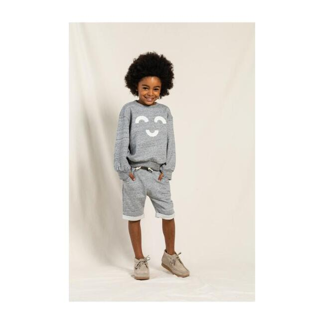 New Grounded Knit Shorts, Heather Grey