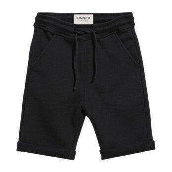 New Grounded Ash Knit Shorts, Black