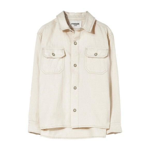 New Dusk Raw Shirt, Ecru