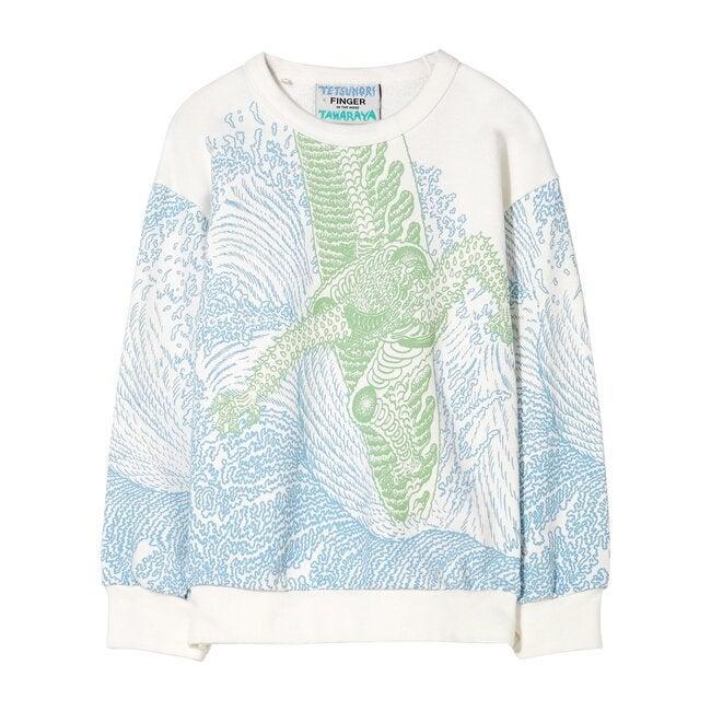 Wind Off White Surfer Sweatshirt, Ecru