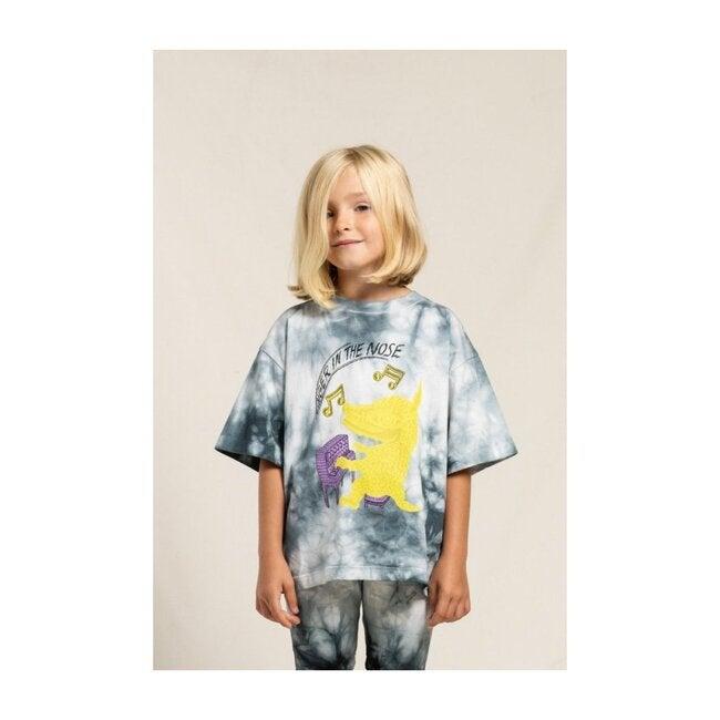 King Off White Bmx T-Shirt, Black Tie Dye