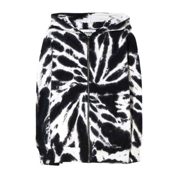 Joey Sweatshirt, Black & White Tie Dye