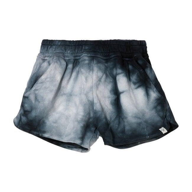 Holiday Soft Shorts, Black Tie Dye