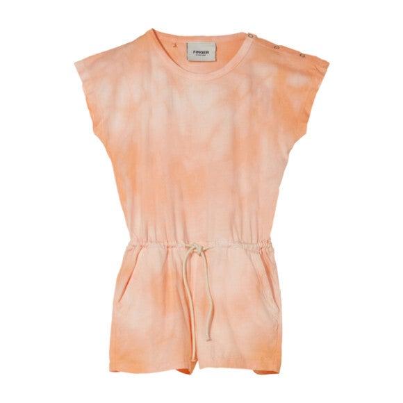 Aileen Romper, Peach Tie Dye
