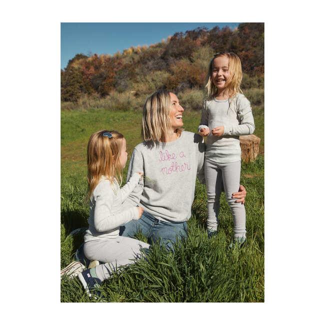 *Exclusive* Women's Like a Mother Sweater, Smoke/Fuchsia