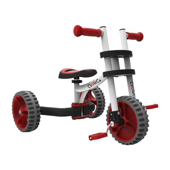 Evolve 3-in-1 Tricycle & Balance Bike, Red